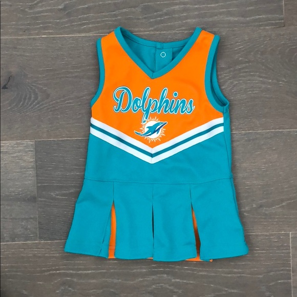 low priced 9b595 6205e Miami dolphins size 18 month cheerleader dress